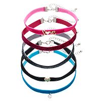 Girls 4-16 5-pk. Choker Necklace Set