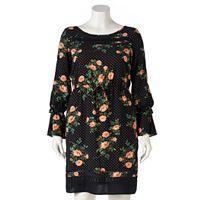 Plus Size LC Lauren Conrad Floral Dot Shift Dress