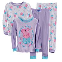Toddler Girl Peppa Pig 4-pc. Pajama Set