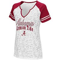 Women's Campus Heritage Alabama Crimson Tide Notch-Neck Raglan Tee