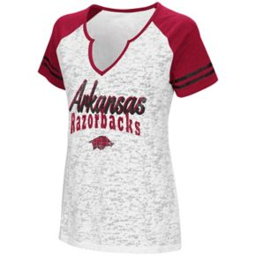 Women's Campus Heritage Arkansas Razorbacks Notch-Neck Raglan Tee