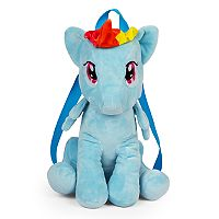 Girls My Little Pony Rainbow Dash Plush Backpack