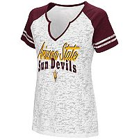 Women's Campus Heritage Arizona State Sun Devils Notch-Neck Raglan Tee