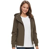 Juniors' Sebby Hooded Softshell Bomber Jacket
