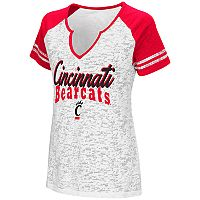 Women's Campus Heritage Cincinnati Bearcats Notch-Neck Raglan Tee