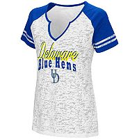 Women's Campus Heritage Delaware Blue Hens Notch-Neck Raglan Tee