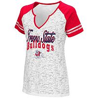 Women's Campus Heritage Fresno State Bulldogs Notch-Neck Raglan Tee