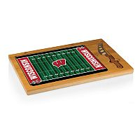 Picnic Time Wisconsin Badgers Cutting Board Serving Tray