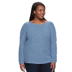 Plus size Croft & Barrow® Textured-Stitch Sweater