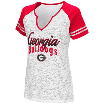 Women's Campus Heritage Georgia Bulldogs Notch-Neck Raglan Tee