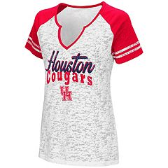 Women's Campus Heritage Houston Cougars Notch-Neck Raglan Tee