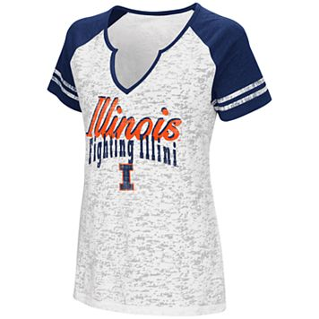 Women's Campus Heritage Illinois Fighting Illini Notch-Neck Raglan Tee