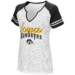Women's Campus Heritage Iowa Hawkeyes Notch-Neck Raglan Tee