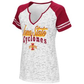 Women's Campus Heritage Iowa State Cyclones Notch-Neck Raglan Tee
