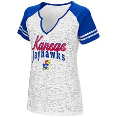 Women's Campus Heritage Kansas Jayhawks Notch-Neck Raglan Tee