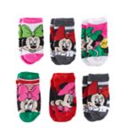 Disney's Minnie Mouse Girls 4-6x Christmas 6-pk. No-Show Socks