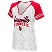 Women's Campus Heritage Louisville Cardinals Notch-Neck Raglan Tee