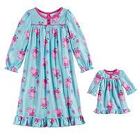 Toddler Girl Peppa Pig Nightgown & Doll Gown Set