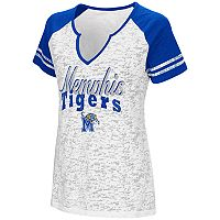 Women's Campus Heritage Memphis Tigers Notch-Neck Raglan Tee