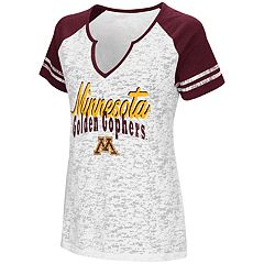 Women's Campus Heritage Minnesota Golden Gophers Notch-Neck Raglan Tee