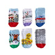 Girls 4-6x Star Wars R2-D2, C-3PO & Ewok No-Show Socks