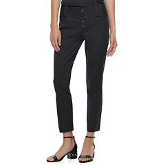 Juniors' Candie's® Button Front Ankle Pants