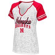 Women's Campus Heritage Nebraska Cornhuskers Notch-Neck Raglan Tee