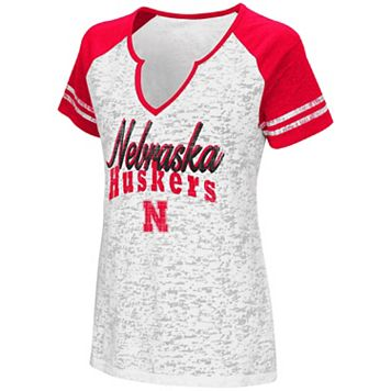 Women's Campus Heritage Nebraska Cornhuskers Notch-Neck Raglan Tee