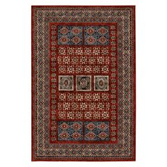 Couristan Timeless Treasures Royal Kazak Framed Medallion Wool Rug