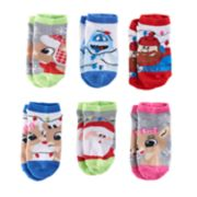 Girls 4-6x Rudolph the Red Nosed Reindeer 6-pk. No-Show Socks
