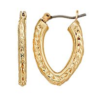 Dana Buchman Textured Hoop Earrings