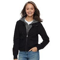 Juniors' Sebby Hooded Bomber Jacket