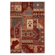 Couristan Timeless Treasures Kerman Mosaic Ornate Patchwork Wool Rug