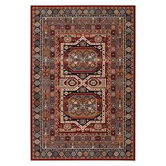 Couristan Timeless Treasures Maharaja Framed Medallion Wool Rug