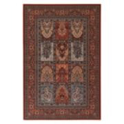 Couristan Timeless Treasures Vintage Baktiari Framed Floral Wool Rug