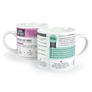 FRED Grub Mugs Microwave Recipes 2-Pack