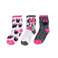 Disney's Minnie Mouse Girls 4-6x Holiday 3 pkCrew Socks