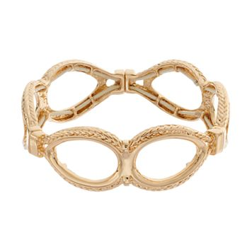 Dana Buchman Textured Teardrop Link Stretch Bracelet