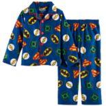 Toddler Boy Justice League Batman, The Flash & Superman Top & Pants Pajama Set