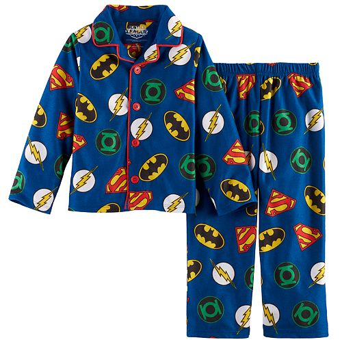 Toddler Boy Justice League Batman, The Flash & Superman Top & Pants Pajama Set