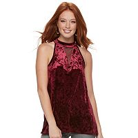 Women's Rock & Republic® Velvet Halter Tank