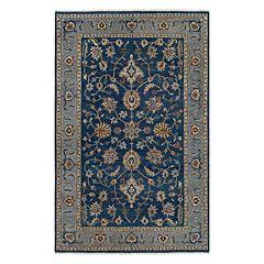 Couristan Tenali Chahar Mahal Framed Floral Wool Rug