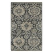 Couristan Tenali Malayer Framed Floral Wool Rug