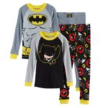 Toddler Boy DC Comics Batman 4-pc. Pajama Set