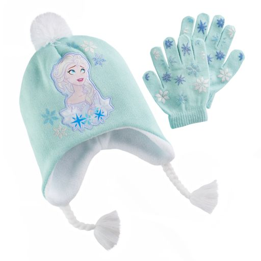 Disney's Frozen Elsa Girls 4-16 Hat & Gloves Set