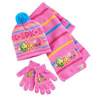 Shopkins Hat, Gloves & Scarf Set