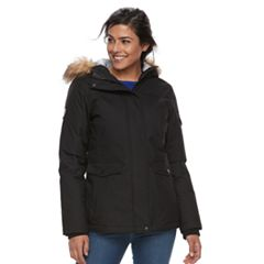 Women's Free Country Down Faux-Fur Trim Jacket