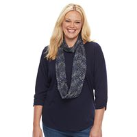 Plus Size Apt. 9® Scarf & Top Set