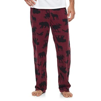 2 Pk Mens Patterned & Solid Microfleece Lounge Pants
