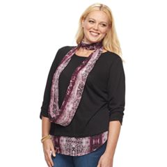 Plus Size Apt. 9® 3-Fer Snit Hatchi Top